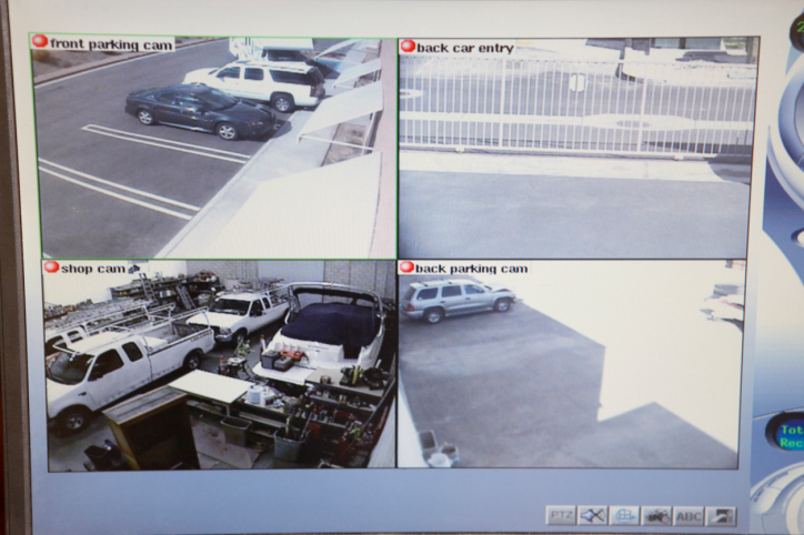 video surveillance system in action