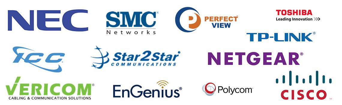 Logos of Teleco Vendors